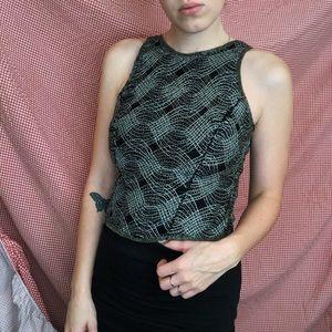 Stunning Beaded Vintage Sleeveless Top